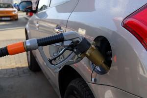 Natural Gas Fuel Pump at a Gas Station